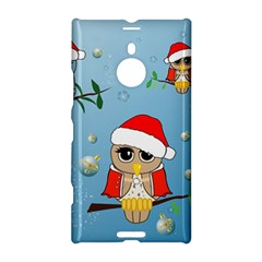 Funny, Cute Christmas Owls With Snowflakes Nokia Lumia 1520 by FantasyWorld7