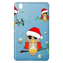 Funny, Cute Christmas Owls With Snowflakes Samsung Galaxy Tab Pro 8 4 Hardshell Case by FantasyWorld7