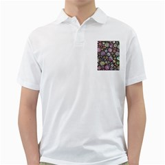 Sweet Allover 3d Flowers Golf Shirts by MoreColorsinLife