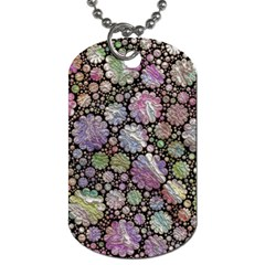 Sweet Allover 3d Flowers Dog Tag (two Sides) by MoreColorsinLife