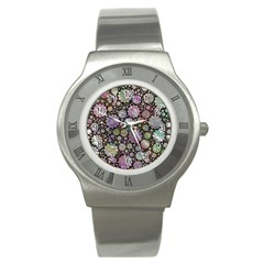 Sweet Allover 3d Flowers Stainless Steel Watches by MoreColorsinLife
