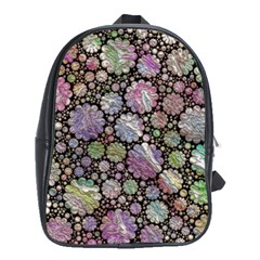 Sweet Allover 3d Flowers School Bags (XL)  by MoreColorsinLife