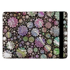 Sweet Allover 3d Flowers Samsung Galaxy Tab Pro 12 2  Flip Case by MoreColorsinLife