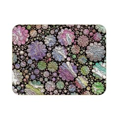 Sweet Allover 3d Flowers Double Sided Flano Blanket (mini)  by MoreColorsinLife