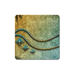 Elegant Vintage With Pearl Necklace Square Magnet by FantasyWorld7