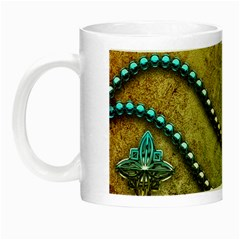 Elegant Vintage With Pearl Necklace Night Luminous Mugs by FantasyWorld7