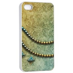 Elegant Vintage With Pearl Necklace Apple Iphone 4/4s Seamless Case (white)
