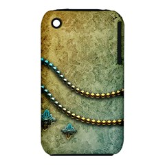 Elegant Vintage With Pearl Necklace Apple iPhone 3G/3GS Hardshell Case (PC+Silicone) by FantasyWorld7