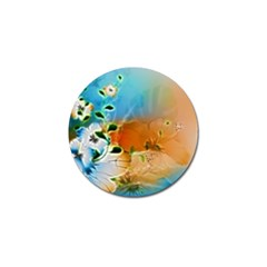 Wonderful Flowers In Colorful And Glowing Lines Golf Ball Marker (10 Pack) by FantasyWorld7