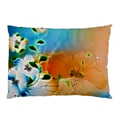 Wonderful Flowers In Colorful And Glowing Lines Pillow Cases by FantasyWorld7