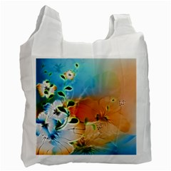 Wonderful Flowers In Colorful And Glowing Lines Recycle Bag (one Side) by FantasyWorld7