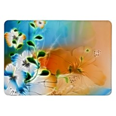 Wonderful Flowers In Colorful And Glowing Lines Samsung Galaxy Tab 8 9  P7300 Flip Case by FantasyWorld7