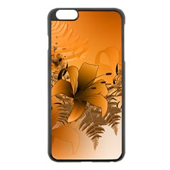 Awesome Summer  Flowers In Soft Red And Yellow Apple Iphone 6 Plus Black Enamel Case by FantasyWorld7