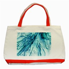 Special Fireworks, Aqua Classic Tote Bag (Red)  by ImpressiveMoments
