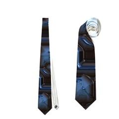 Metalart 23 Blue Neckties (one Side)  by MoreColorsinLife