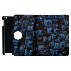 Metalart 23 Blue Apple Ipad 2 Flip 360 Case by MoreColorsinLife