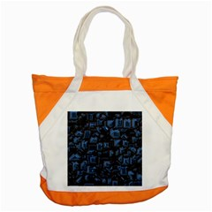 Metalart 23 Blue Accent Tote Bag  by MoreColorsinLife