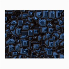 Metalart 23 Blue Small Glasses Cloth (2 Side) by MoreColorsinLife