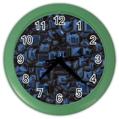 Metalart 23 Blue Color Wall Clocks by MoreColorsinLife