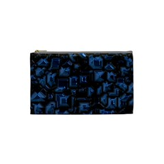 Metalart 23 Blue Cosmetic Bag (small)  by MoreColorsinLife