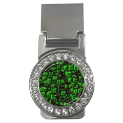 Metalart 23 Green Money Clips (CZ)  by MoreColorsinLife