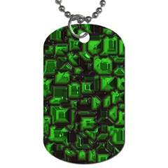 Metalart 23 Green Dog Tag (two Sides) by MoreColorsinLife
