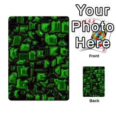 Metalart 23 Green Multi Purpose Cards (rectangle)  by MoreColorsinLife