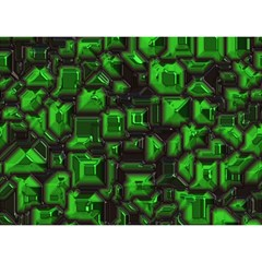Metalart 23 Green Birthday Cake 3d Greeting Card (7x5)
