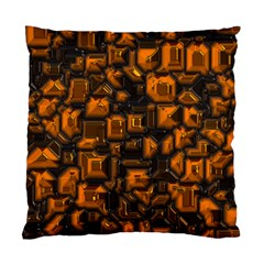 Metalart 23 Orange Standard Cushion Cases (two Sides)  by MoreColorsinLife