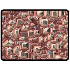 Metalart 23 Peach Double Sided Fleece Blanket (large)  by MoreColorsinLife