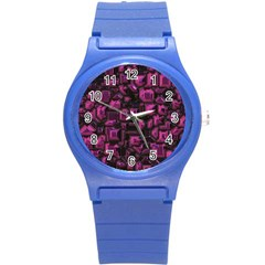 Metalart 23 Pink Round Plastic Sport Watch (s) by MoreColorsinLife