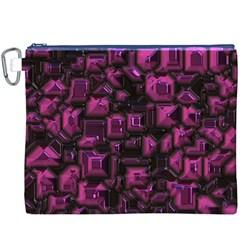 Metalart 23 Pink Canvas Cosmetic Bag (XXXL)  by MoreColorsinLife