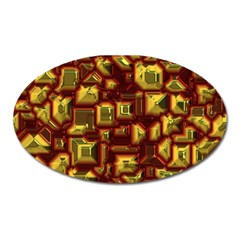 Metalart 23 Red Yellow Oval Magnet by MoreColorsinLife