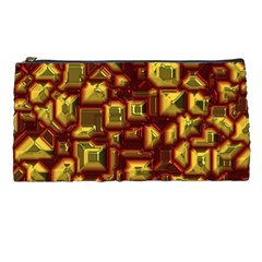 Metalart 23 Red Yellow Pencil Cases by MoreColorsinLife