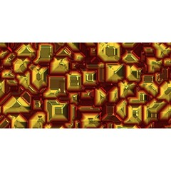 Metalart 23 Red Yellow You Are Invited 3d Greeting Card (8x4)