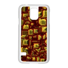 Metalart 23 Red Yellow Samsung Galaxy S5 Case (white) by MoreColorsinLife