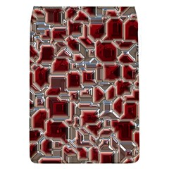 Metalart 23 Red Silver Flap Covers (l)  by MoreColorsinLife