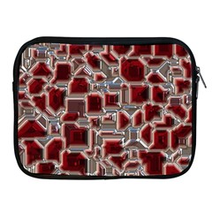 Metalart 23 Red Silver Apple iPad 2/3/4 Zipper Cases by MoreColorsinLife
