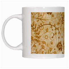 Flower Pattern In Soft  Colors White Mugs by FantasyWorld7