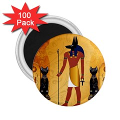 Anubis, Ancient Egyptian God Of The Dead Rituals  2 25  Magnets (100 Pack)  by FantasyWorld7