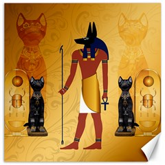 Anubis, Ancient Egyptian God Of The Dead Rituals  Canvas 16  X 16   by FantasyWorld7