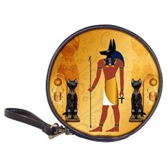 Anubis, Ancient Egyptian God Of The Dead Rituals  Classic 20 Cd Wallets by FantasyWorld7