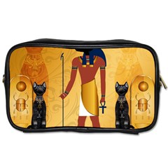 Anubis, Ancient Egyptian God Of The Dead Rituals  Toiletries Bags 2 Side by FantasyWorld7