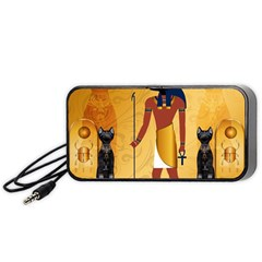 Anubis, Ancient Egyptian God Of The Dead Rituals  Portable Speaker (Black)  by FantasyWorld7