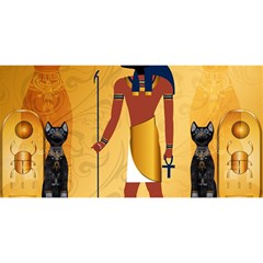 Anubis, Ancient Egyptian God Of The Dead Rituals  You Are Invited 3d Greeting Card (8x4)