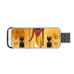 Anubis, Ancient Egyptian God Of The Dead Rituals  Portable Usb Flash (one Side) by FantasyWorld7
