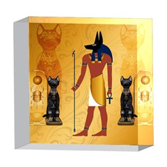 Anubis, Ancient Egyptian God Of The Dead Rituals  5  x 5  Acrylic Photo Blocks by FantasyWorld7