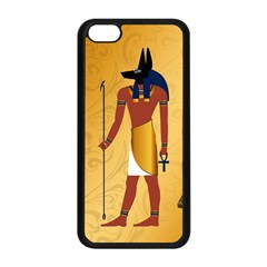 Anubis, Ancient Egyptian God Of The Dead Rituals  Apple Iphone 5c Seamless Case (black) by FantasyWorld7