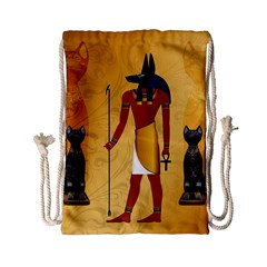 Anubis, Ancient Egyptian God Of The Dead Rituals  Drawstring Bag (small)