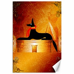 Anubis, Ancient Egyptian God Of The Dead Rituals  Canvas 12  X 18   by FantasyWorld7